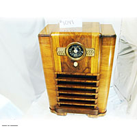 Antique floor model broadcast radio 6 openings scott radiola stewart warner