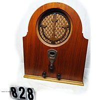 Antique cathedral tube radio image gallery from 1900s old wooden